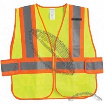 ANSI Class 2 Two Tone Deluxe Mesh Safety Vest