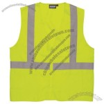 ANSI Class 2 Woven Oxford Safety Vest in Hi-Viz Lime