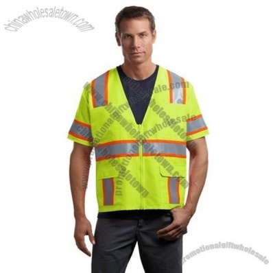 ANSI Class 3 Dual-Color Safety Vest in Safety Yellow
