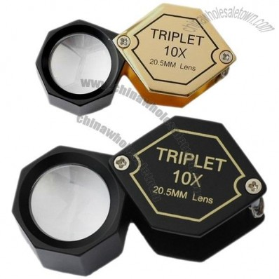 Achromatic Aplanatic 10x20.5mm Triplet Jewelry Loupe, Jewelry Magnifier