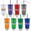 Acrylic 24 oz tumbler with matching straw