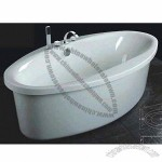 Acrylic Bathtub, Includes Bath Faucet, Shower Head and Drainers