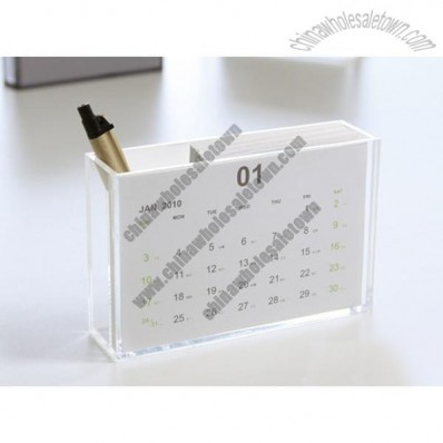 Acrylic Calendar Pen Holder
