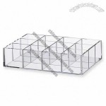 Acrylic Compartment Storage Box 12 Partitions