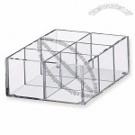 Acrylic Compartment Storage Box 6 Partitions