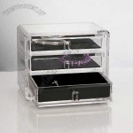 Acrylic Deluxe 3-Drawer Jewelry Chest