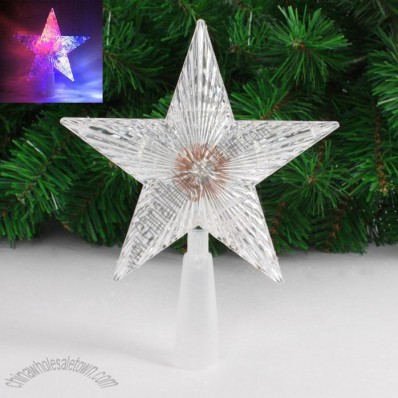 Acrylic Flash LED Christmas Tree Topper Star