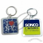 Acrylic Keychain with Logo Paper Inserted