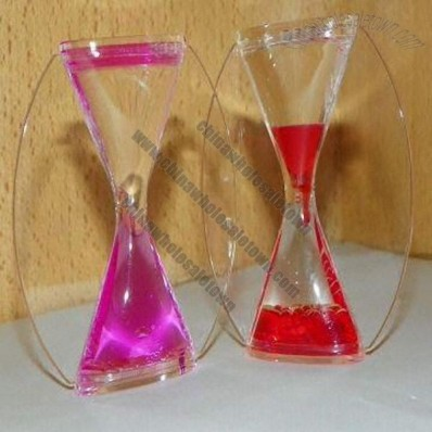 Acrylic Liquid Hour Glass Timer, Suitable for Souvenir and Decoration