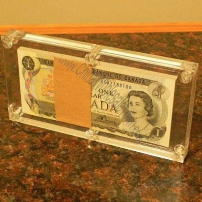 Acrylic Money Currency Holder Display Cases