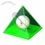 Acrylic Pyramid Display for Collecting Funny Ball Toy