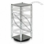 Acrylic Revolving Earring Stand, Holds 32 Cards