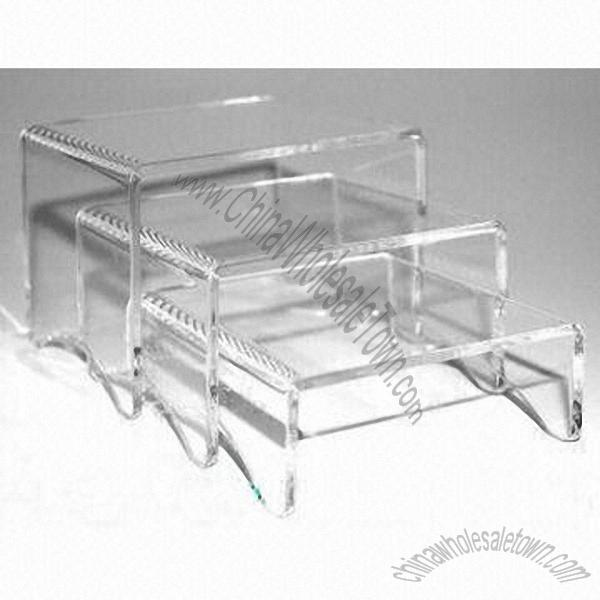 Acrylic Shoe Display Stands/3 Risers Clear Acrylic Display Stands