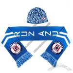Acrylic Woven Scarf For Football Fans