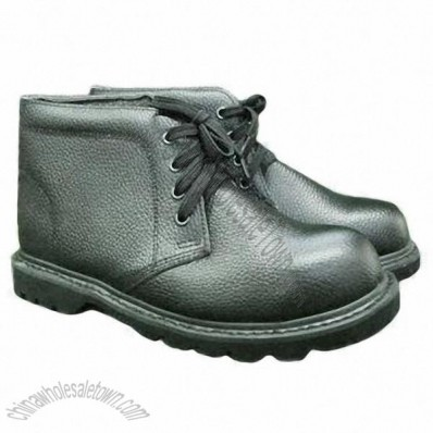 Action Leather Goodyear Welt Women's Safety Shoes for Outdoor Work