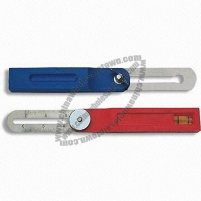 Adjustable Angle Square with Plastic Handle and Steel Ruler Blade