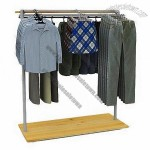 Adjustable Clothing Display Stand With Wheel