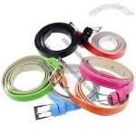 Adjustable Leather Skinny Belts - 5 Random Colors