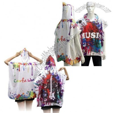 Adult Size Towel Poncho by Sublimation of Full Surface
