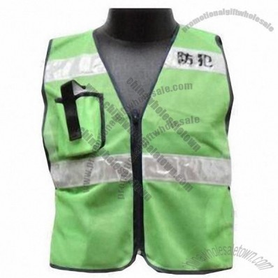 Adult's Safety Vest with Zipper Closure on Front