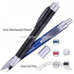 Aerodynamic retractable mechanical pencil