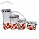 Air-tight Glass Storage Jars with Ceramic Lids and Metal Clips