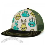 Aliens Flat Bill Trucker cap