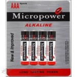 Alkaline Battery with Blister Card AAA/LR03