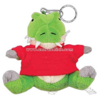 Alligator Shape Small stuffed plush animal with key ring