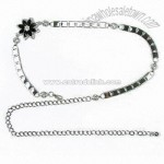 Alloy Charm and Metal Chain Belt