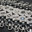 Alloy Puzzle Car Logo Keychain / Key ring