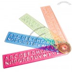 Alphabet Stencil Rulers