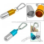 Aluminum Carabiner Keychain with Bottle Pill Storage