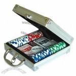 Aluminum Case 100-piece Poker Chips Deluxe Set