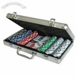 Aluminum Case 300-piece Poker Chips Deluxe Set
