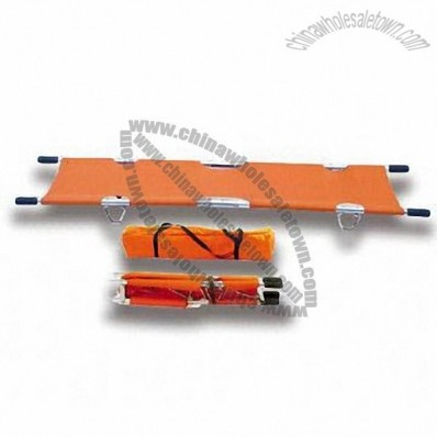 Aluminum Folding Metal Stretcher, 2 Folded Portable Manual Emergency Rescue Stretcher