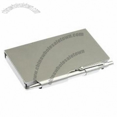 Aluminum Pocket notebook and pen