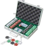 Aluminum Poker Chip Set, 200 Pieces