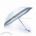 Aluminum Shaft and Ribs Frame Folding Umbrella
