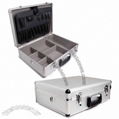 Aluminum Tool Case with Black EVA Lining and Black Corners 46x33x15cm