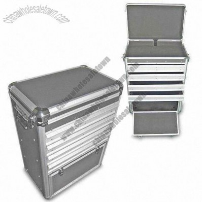 Aluminum Tool Case with Four Drawers 496 x 315 x 672mm