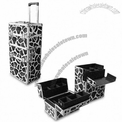 Aluminum Tool Case with Removable Trays and Trolley for Easy Carrying