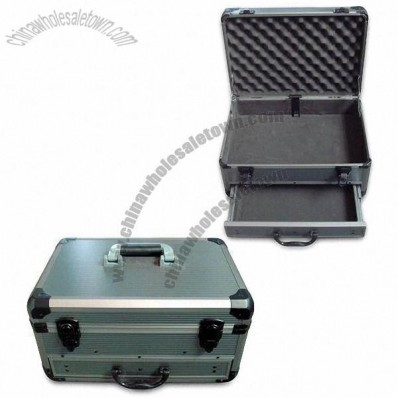 Aluminum Tool Case with Strong Aluminum Frame and Stripe ABS Surface