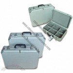 Aluminum Tool Cases with Plastic Handle and Gray Plastic Corners