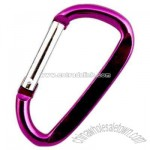 Aluminum alloy carabiner with angled top