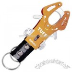 Aluminum carabiner with combination hook