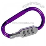 Aluminum carabiner with combination lock