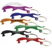 Aluminum metal leopard shape bottle opener key chain