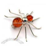Amber Spider Pin