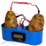 American Educational Blue Plastic Two Potato Clock